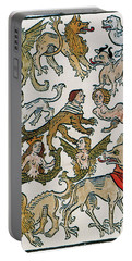 Human Monsters 1493 Portable Battery Charger by Photo Researchers