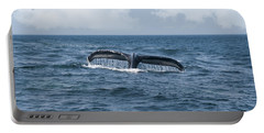 Humpback Whale Fin Portable Battery Charger by Juli Scalzi