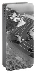 Hwy 101 In Southern California Portable Battery Charger by Underwood Archives