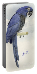 Hyacinth Macaw Portable Battery Charger by Henry Stacey Marks