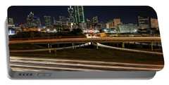 I-35e Dallas Portable Battery Charger by Rick Berk