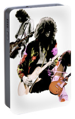 In Flight Iv Jimmy Page  Portable Battery Charger by Iconic Images Art Gallery David Pucciarelli