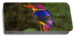 India Three Toed Kingfisher Portable Battery Charger by Anonymous
