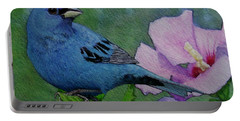 Indigo Bunting No 1 Portable Battery Charger by Ken Everett