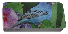 Indigo Bunting No 2 Portable Battery Charger by Ken Everett