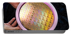 Portable Battery Charger featuring the photograph Integrated Circuits On Silicon Wafer by Science Source