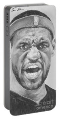 Intensity Lebron James Portable Battery Charger by Tamir Barkan