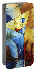 Island Martini  Original Madart Painting Portable Battery Charger by Megan Duncanson