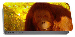 It Is Hard Being A Primate  Portable Battery Charger by Jeff Swan