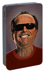 Jack Nicholson 2 Portable Battery Charger by Paul Meijering
