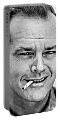 Jack Nicholson Portable Battery Charger by Florian Rodarte