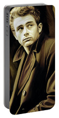 James Dean Artwork Portable Battery Charger by Sheraz A