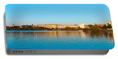 Jefferson Memorial And Washington Portable Battery Charger by Panoramic Images