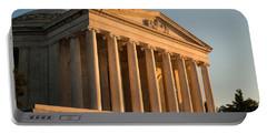 Jefferson Memorial Sunset Portable Battery Charger by Steve Gadomski