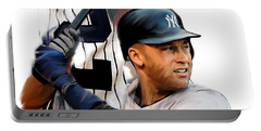 Jeter II  Derek Jeter Portable Battery Charger by Iconic Images Art Gallery David Pucciarelli