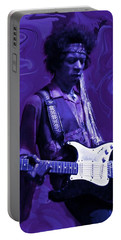 Jimi Hendrix Purple Haze Portable Battery Charger by David Dehner