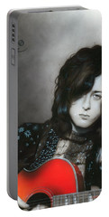 ' Jimmy Page ' Portable Battery Charger by Christian Chapman Art