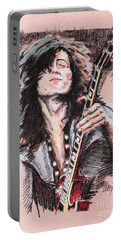 Jimmy Page Portable Battery Charger by Melanie D
