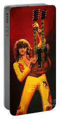 Jimmy Page Painting Portable Battery Charger by Paul Meijering