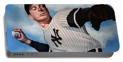Joe Dimaggio Portable Battery Charger by Paul Meijering