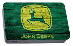 John Deere Barn Door Portable Battery Charger by Dan Sproul