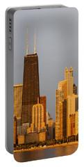 John Hancock Center Chicago Portable Battery Charger by Adam Romanowicz