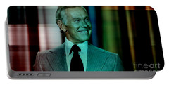 Johnny Carson Portable Battery Charger by Marvin Blaine