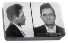 Johnny Cash Folsom Prison Portable Battery Charger by David Millenheft