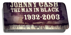 Johnny Cash Memorial Portable Battery Charger by Dan Sproul