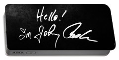 Johnny Cash Museum Portable Battery Charger by Dan Sproul