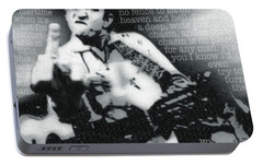 Johnny Cash Rebel Portable Battery Charger by Tony Rubino