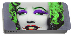 Joker Marilyn With Surreal Pipe Portable Battery Charger by Filippo B