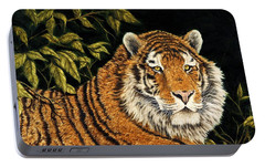 Jungle Monarch Portable Battery Charger by Rick Bainbridge