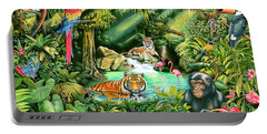Jungle Variant 1 Portable Battery Charger by Mark Gregory