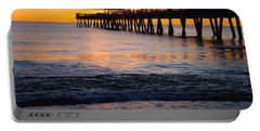 Juno Beach Pier Portable Battery Charger by Carey Chen