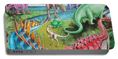 Jurassic Swamp Variant 1 Portable Battery Charger by Mark Gregory