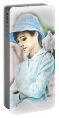 Just Audrey Portable Battery Charger by Mo T
