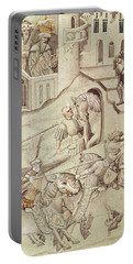 Knights Jousting Portable Battery Charger by Bohemian School
