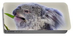 Koala Close Up Portable Battery Charger by Chris Flees