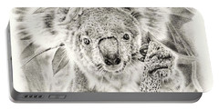 Koala Garage Girl Portable Battery Charger by Remrov
