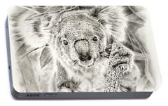Koala Garage Girl Portable Battery Charger by Remrov