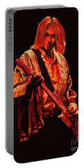 Kurt Cobain Painting Portable Battery Charger by Paul Meijering
