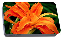 Kwanso Lily Portable Battery Charger by Rona Black
