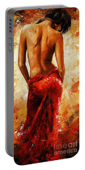 Lady In Red 27 Portable Battery Charger by Emerico Imre Toth