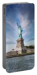 Lady Liberty Portable Battery Charger by Juli Scalzi