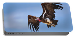 Lappetfaced Vulture Portable Battery Charger by Johan Swanepoel