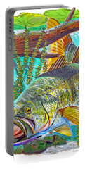 Largemouth Bass Portable Battery Charger by Carey Chen