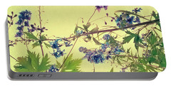 Larkspur Portable Battery Charger by Priska Wettstein