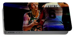 Larry Bird Portable Battery Charger by Marvin Blaine