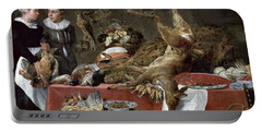 Le Cellier Oil On Canvas Portable Battery Charger by Frans Snyders or Snijders